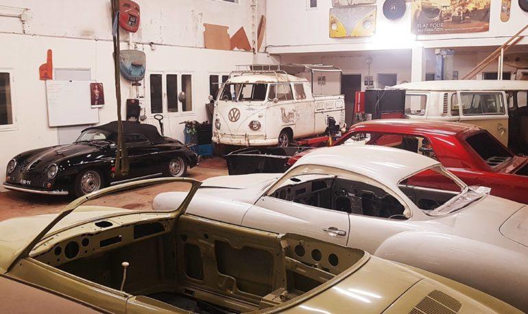 intérieur du garage Flat4restoration